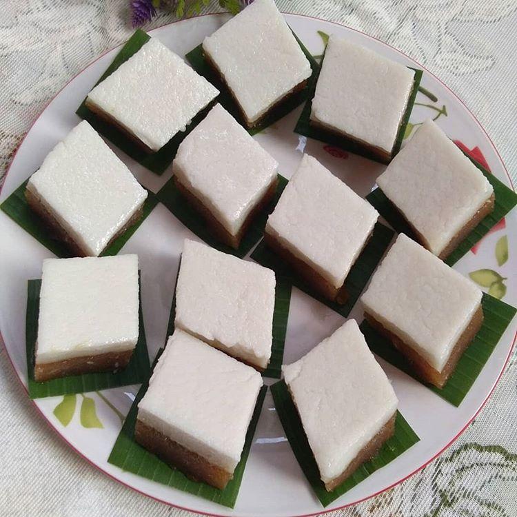 Cara Membuat Kue Talam Singkong Gula Merah