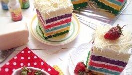 Cara Membuat Rainbow Cake Yang Enak dan Lembut